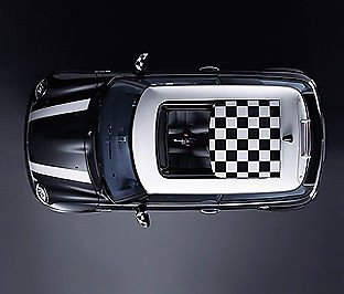 Autocollant toit ouvrant damier Mini Countryman Chequered Roof Sticker