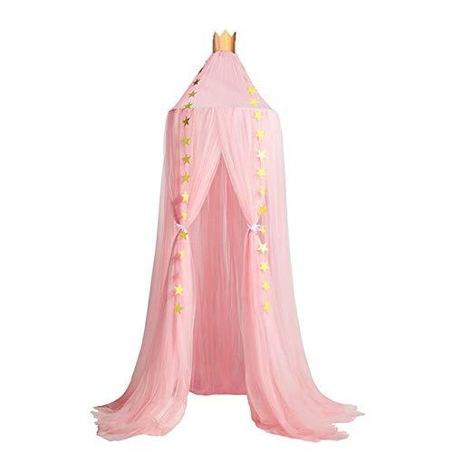 Moustiquaire Rose de Lit Bébé Cadeau Ciel de Lit Déco Chambre Enfant Baldaquin Lit Fille Princesse Suspendre Accessoires de Literie DIY