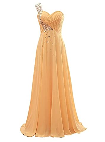 WAWALI Crystal One Shoulder Prom Dresses Evening Party Gowns 16 Burlywood