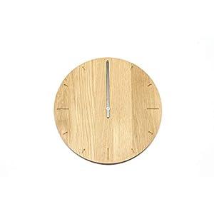 Wanduhr Eiche massiv mit Junghans Uhrwerk
