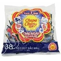 Chupa Chups Mini Cola & Strawberry Flavour Lollipops 38 Pcs Packet, 380g