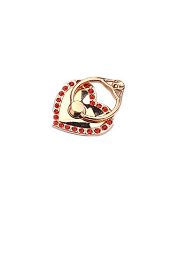 TBOP PHONE RING BUCKLE THE BEST OF PLANET SIMPLE & STYLISH Metal cartoon little love red ring bracket bracelet buckle lazy folding mobile phone ring buckle diamond in golden color