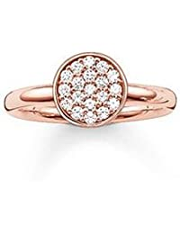 Thomas Sabo Silver Rose Gold Plated Cubic Zirconia Nazar Eye Ring TR2075-416-14-58 (Q 1/4) kfT7iyy91Y