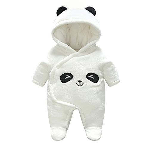 Baby Strampelanzug mit Füssen, Mütze für Jungen und Mädchen, mit Kapuze, für 0-12 Monate, Halloween, Cosplay-Kostüm, panda, 66 cm