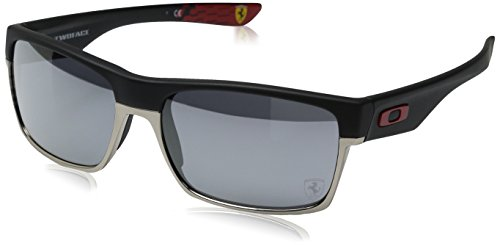 Oakley Men's Two Face OO9256-08 Black Rectangle Sunglasses