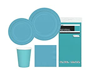 Unique Party- Party Kit, Color verde azulado, pack de 1 (63845)