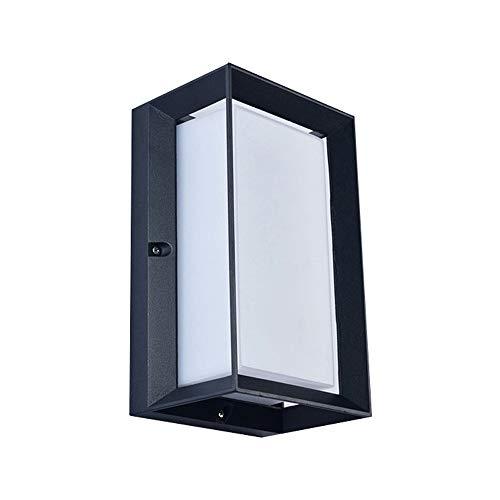 WPOLED LED IP65 wasserdichte Wandleuchte 12W Weiß Indoor Outdoor Diamond Bulkhead Aluminium Metall Wandleuchte Mattschwarz Indoor Outdoo Acryl Wandleuchte Up Down Light (Color : 6000K White Light) Indoor-outdoor-color-kamera