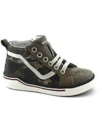 b465b215c35f0 Balocchi 983700 Blake 28 29 Topo Grigio Militare Scarpe Bambino Sneaker  Lacci Cerniera Pelle