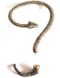 Réf050 BO.648 - Boucle D'oreille Fantaisie - Tour D'oreille Ear Cuff - Serpent Métal Doré Vieilli