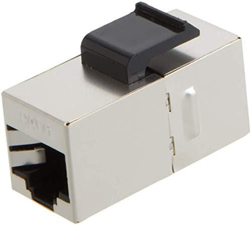CableCreation RJ45 Keystone Buchse (10-Pack) Cat6 Geschirmter Inline-Modular-Koppler mit Keystone-Verriegelung, Modularer RJ45-Koppler für Panel-Anschluss, Cat6 8P / 8C-Buchse an Buchse Klasse E