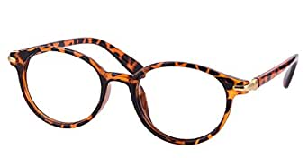 Comfortsight Havana Unbreakable Polycarbonate Wayrarer Eye Glass Frame For Women - Cs8994
