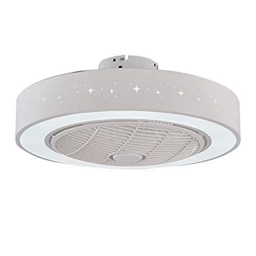 Ventilador de techo blanco con kit de luz y control remoto, Luz...