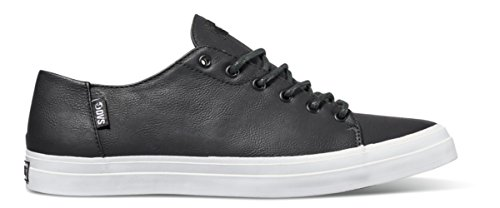 DVS da uomo Edmon Skate Scarpe, Black/White/Black, 9 UK Black/White/Black