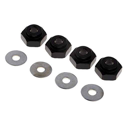 Homyl 4 STK Metall 12-17mm Radnabe Hex Mount Adapter für 1:10 1:8 RC Auto Crawler -