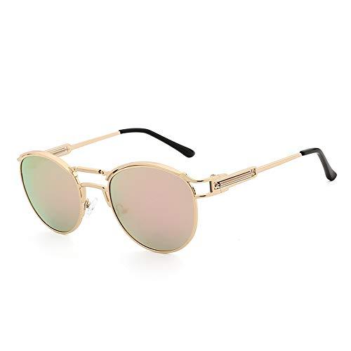 Ultra Runde Sonnenbrille UV400 Herren Damen Retro Brille Brille Sonnenbrille MDYHJDHHX (Color : Rosa, Size : Kostenlos)