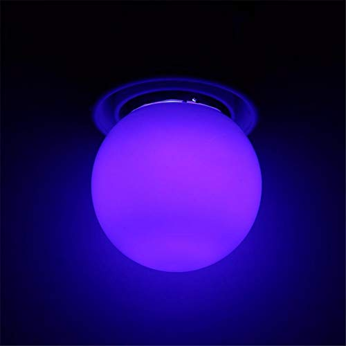 (Glühbirne Dekorative Leuchtmittel3W E27 Led Glühbirne Runde Geformte Bunte Kugel Glühbirne Home Bar Party Festival Dekorative Lampe Beleuchtung, Blau)