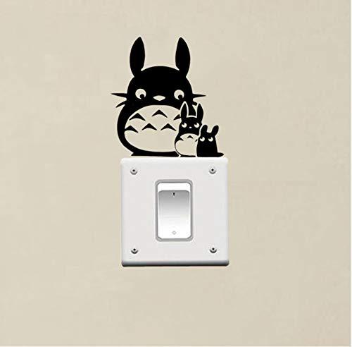 kdjshhs Wandaufkleber Cartoon Anime Totoro Mama Und Totoro Baby Schalter Aufkleber Vinyl Schalter Wohnkultur Wohnzimmer Wandtattoo Kunst Poster Tapete 3D