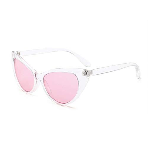 YOURSN Rote Cat Eye Sonnenbrille Frauen Klares Design Vintage Sonnenbrille Transparenten Rahmen Cateye Brillen Rosa Schwarz Farbe-Pink
