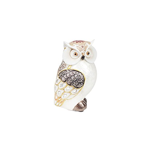 G&S Figurine Chouette Collection Opaline, Moyenne, H 13 cm