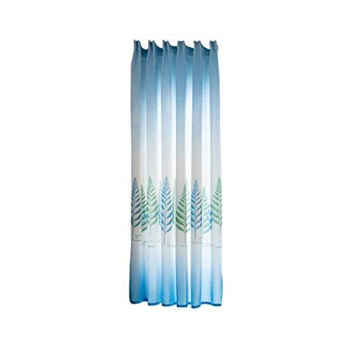 Xmiral Türvorhang Drucken Halbtransparent Kurz Gardine Mit Stangenloch 200cmx100cm Für Kinderzimmer Wohnzimmer Schlafzimmer(L)