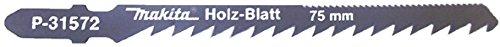 Makita P-31572 - Blister da 5 lame per seghetto alternativo HCS / Cv Corte DPP veloce per Legno 6 denti 75 millimetri Tipo D