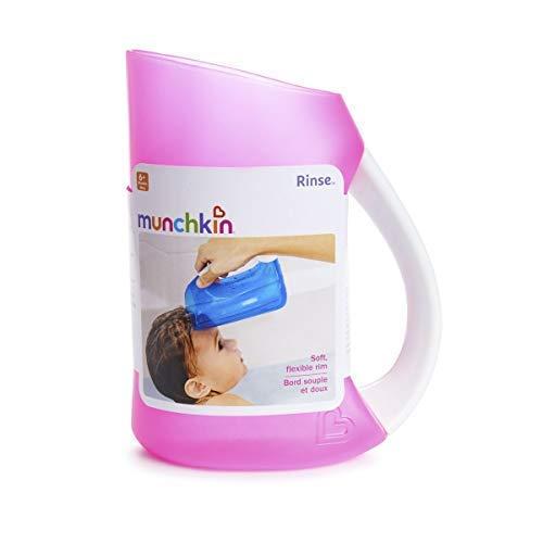 Bain de bébé doux JANTE RINCEUSE de shampoing TASSE CRUCHE nourrisson Baignoire lavage douche MUNCHKIN - Rose
