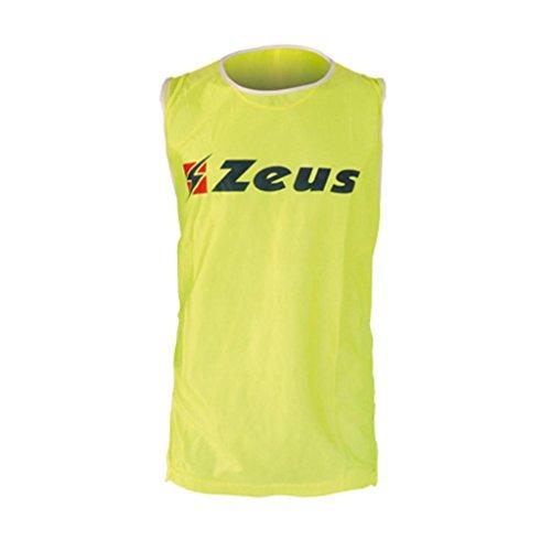 Zeus Herren Markierungshemden Trainingsleibchen Fußball Running Laufen Training Sport Trikot Shirt CASACCA SPECCHIO (One Size Fits All, GELB FLUO)