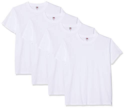 Fruit of the Loom Herren T-Shirt 5 er PackRegular Fit 11182V M,Weiß - Weiß