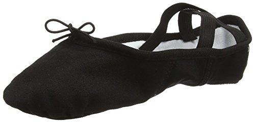 SO DANCA Ballettschläppchen Leinen Spandex Schuh Schwarz (Black)