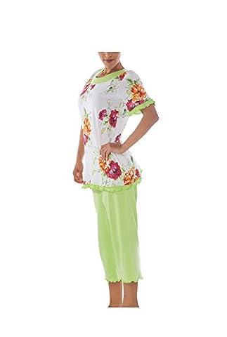 Ensemble de Pyjama pour femme Manches courtes 100% Coton