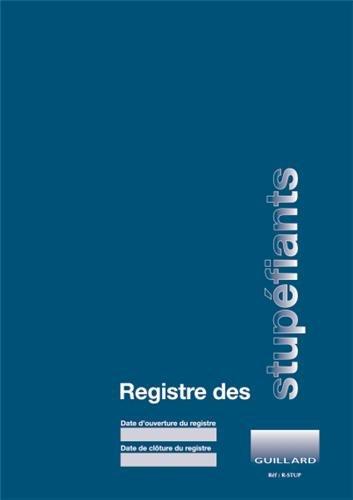 Registre comptable des stupfiants en pharmacie