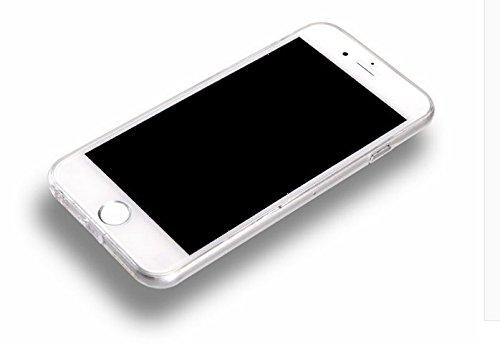 Vandot 1x Exklusive Ultra Thin Dünn TPU Silikon Schutz Handy Hülle für iPhone 6 Plus / 6S Plus 5.5 Zoll Case Tasche Etui Bumper Schale - Aztec Tribal Henna Floral Mandala Blume Lace Sketch Transparent 33
