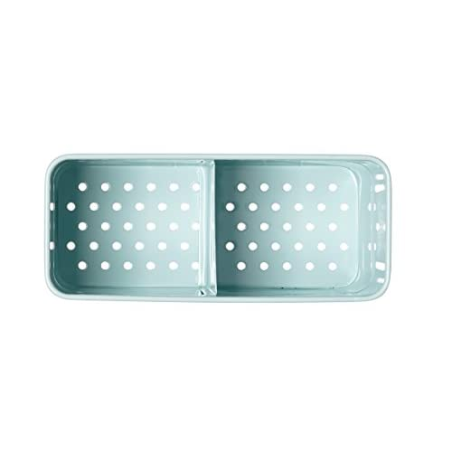 KitchenCraft Living Nostalgia Metal Sink Tidy - Duck Egg Blue
