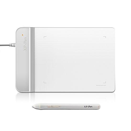 XP-Pen G430 OSU Grafiktablett 4x3 Zoll Pen Tablett Zeichnung Tablett (G430, Weiß)