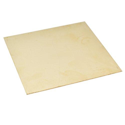 YNuth Messingblech Messingplatte Quadrat Basteln Handarbeit Zubehör 100 x 100mm