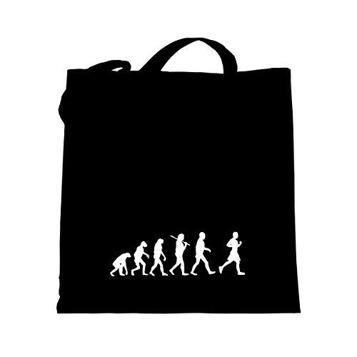 Shirtfun24 Baumwolltasche EVOLUTION JOGGER Jogging laufen, navy (blau) schwarz