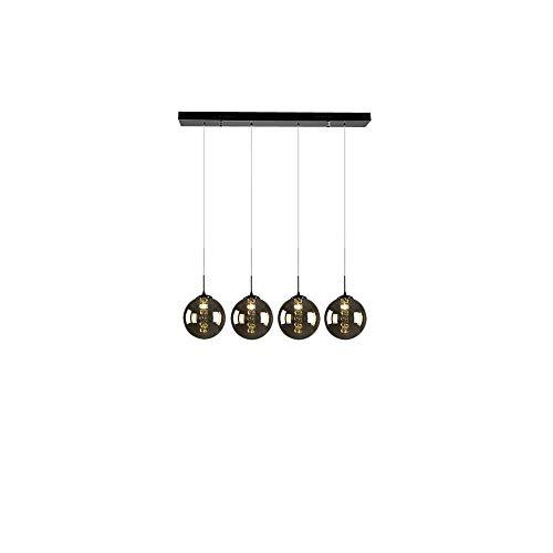 CBJKTX Pendelleuchte esstisch Pendellampe Höheverstellbar Kronleuchter Hängeleuchte 4-Flammig aus Glas Küchen Wohnzimmerlampe Schlafzimmerlampe Flurlampe