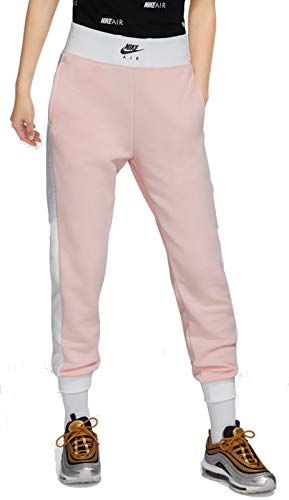 Nike Damen Trainingshose Fitnesshose Freizeithose W NK Air Pant pink Weiss, Größe:XL