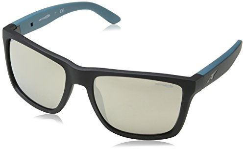 Arnette Herren 0AN4177 24355A 59 Sonnenbrille, Schwarz (Matte Black/Lightbrownmirrordarkgold),