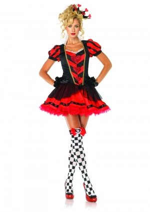 Leg Avenue Dark Heart Queen Kostüm L, 1 Stück (Hearts Halloween Queen Of)