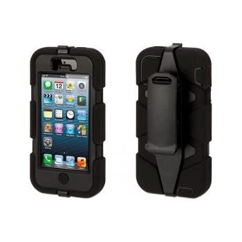 Ultra Rugged, Fully Protective, All Conditions IPhone 5 Case   Black