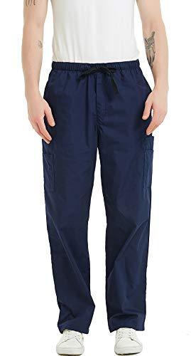 Cargo-scrub-hose (VOGRYE Herren Scrubs Pant Originals Cargo Scrubs Hose mit Taschen - blau - X-Groß)
