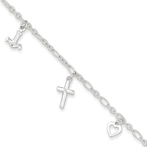 IceCarats Designer Jewellery Sterling Silver 10 Anklet In 10.00 Inch