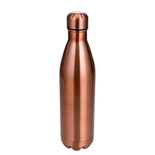 GRÄWE Isolierflasche Thermoflasche 0,75 Liter, Drehverschluss, Edelstahl, Kupferfarbig