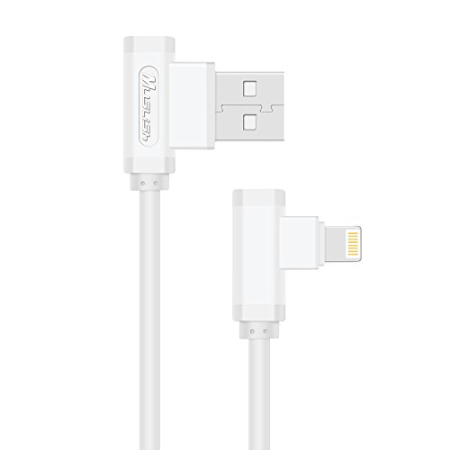 USB-Ladekabel, schnell laden Ladegerät Kabel dauerhaft L-Form Quick Sync USB-Datenkabel für iPhone7 6 s 6Plus 5 5 s, iPad Air2, iPod Nano 6. 7. gen,Apple(White)
