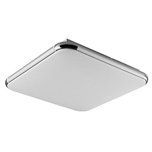 16W Dimmbar Deckenleuchte, LED Modern Deckenlampe mit Fernbedienung Ultraslim Quadratische Panel Deckenbeleuchtung Deckenstrahler Schlafzimmer Küche Flur Wohnzimmer Lampe Von Fairyland