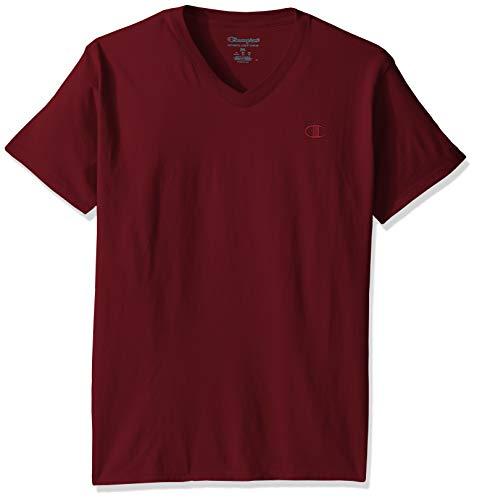 Hanes V-neck T-shirts (Champion Men's Classic Jersey V-Neck T-Shirt, Maroon, XX-Large)