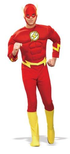 Kostüm Blitz (Rubie's 3 888079 M - Flash Deluxe Muscle Chest Erwachsener Kostüm, Größe)