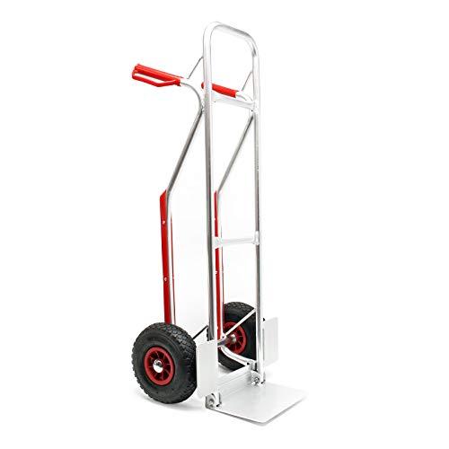Aluminium Sackkarre mit Treppenrutsche 200kg Stapelkarre Transportkarre Alu Klappbar Handkarre
