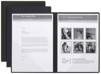 Pagna 22031-04 Präsentationsmappe Perfect, 2-teilig, schwarz